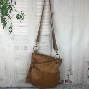 VERA PELLE Genuine Leather 2 pc Handbag Set